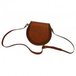 Sac bandoulière cuir femme - Round bag L