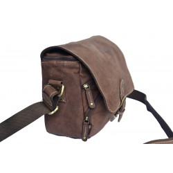 Sacoche à bandoulière en cuir vintage pour appareil photo - Camera Bag