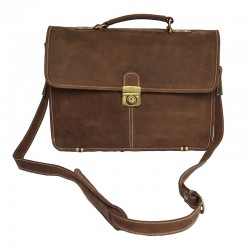 Porte document / cartable en cuir - Revathi