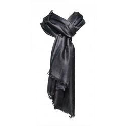 Foulard Brillance 100% soie sauvage couleur noir