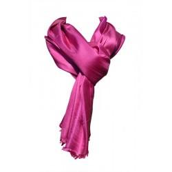 Foulard Brillance 100% soie sauvage couleur rose