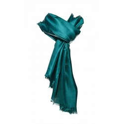 Foulard Brillance 100% soie sauvage couleur vert pin