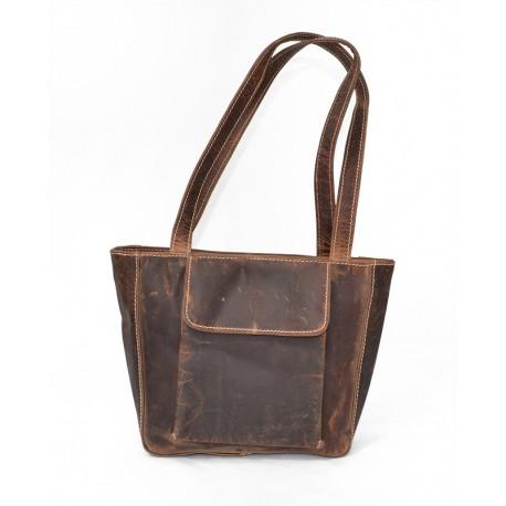 Sac à main en cuir Dilip- Maroquinerie vintage / rustique