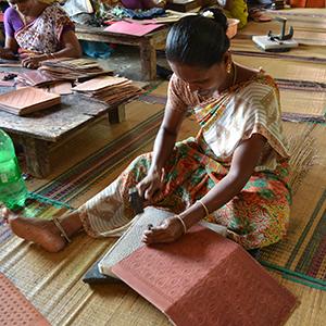 Maroquinerie - Sac en cuir fait main.